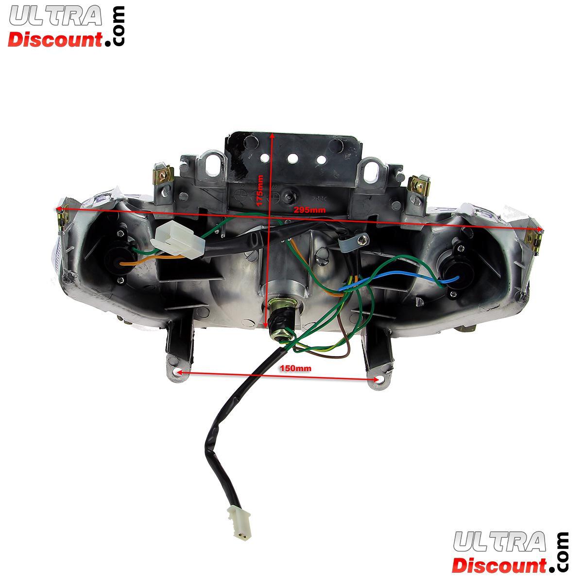 piloto trasero para scooter baotian bt49qt 9 luces. Black Bedroom Furniture Sets. Home Design Ideas