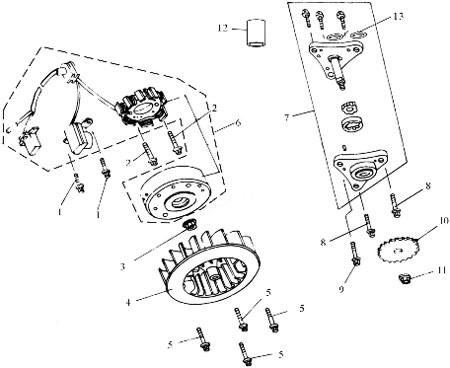 tornillo m6 x 22 para scooter baotian bt49qt