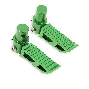 Estribos en verde tuning para type3 por Pocket Bike