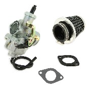 * Kit carburador de 30mm para quad Shineray 200cc + adaptador